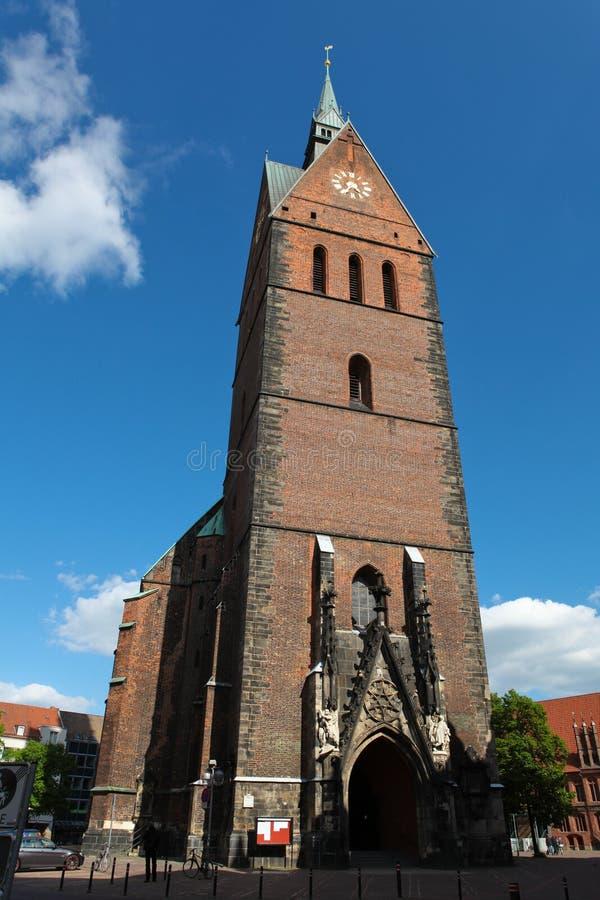 Chiesa del mercato a Hannover fotografia stock libera da diritti