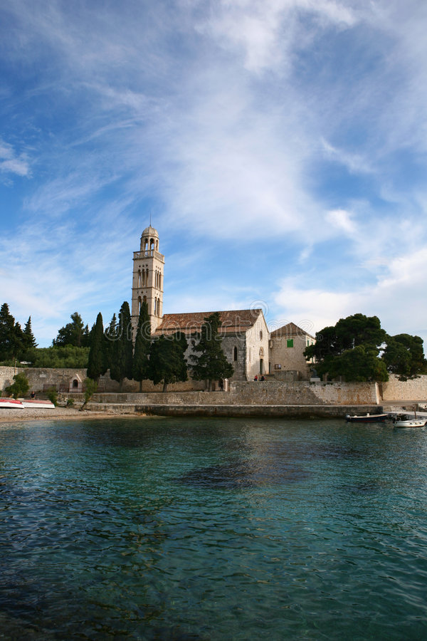 Chiesa del monastero fotografia stock libera da diritti