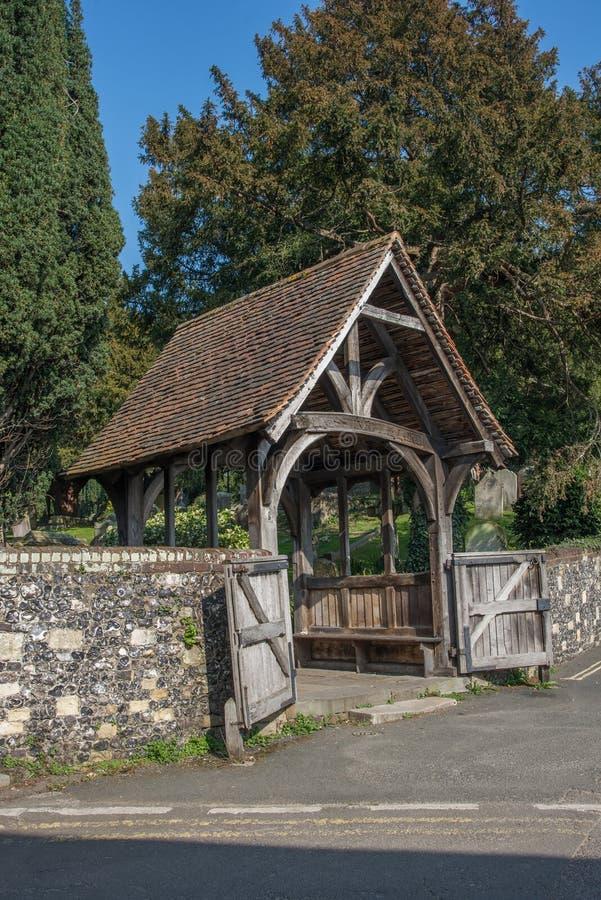 Chiesa del portico dell'entrata di St Martin immagine stock