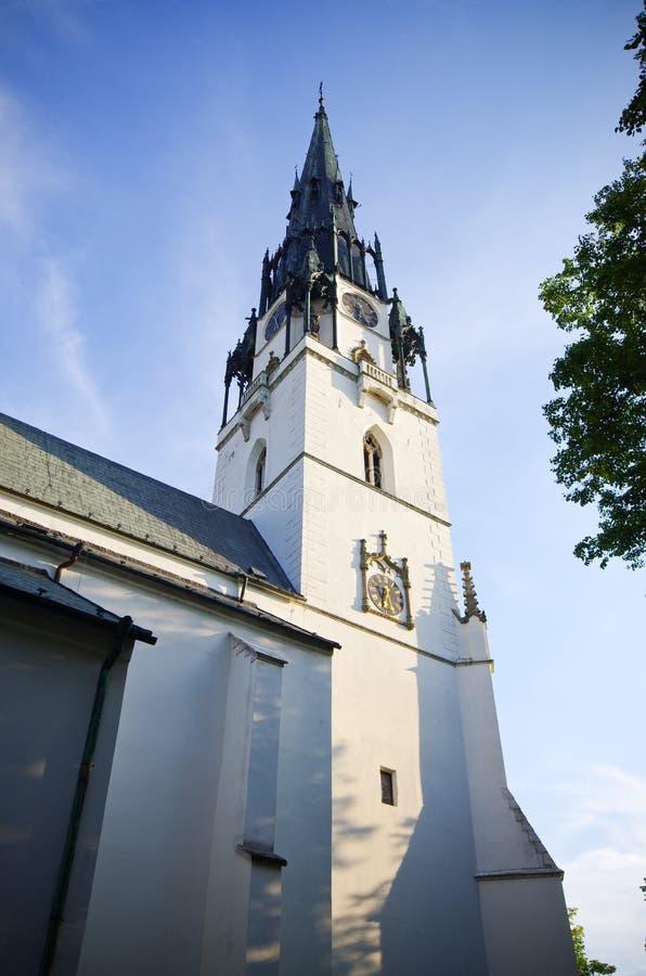 Chiesa del presupposto di vergine Maria, Spisska Nova Ves, Slovacchia fotografia stock libera da diritti