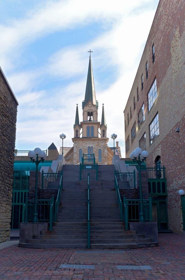 Chiesa del punto di riferimento in distretto storico fotografia stock libera da diritti