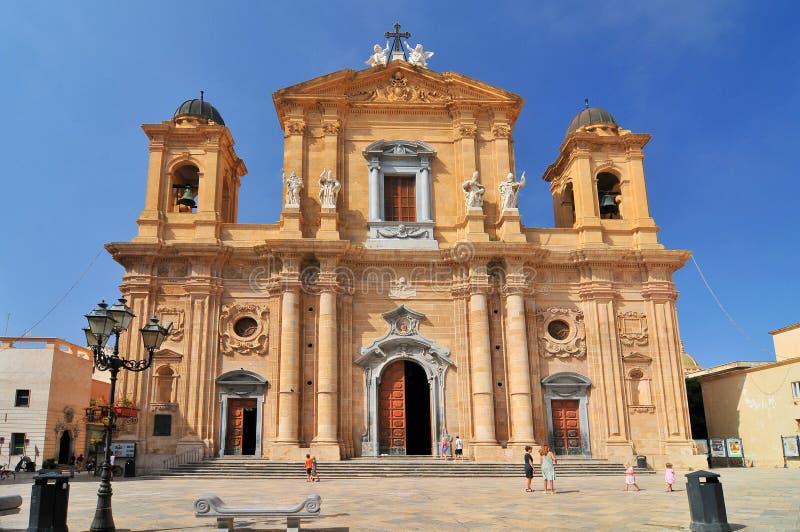 Chiesa del Purgatorio Church του καθαρτηρίου Marsala στη Σικελία Ιταλία στοκ φωτογραφίες