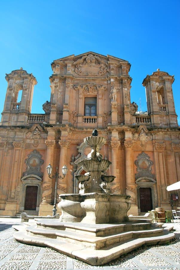 Chiesa del Purgatorio - marsala, Sicilien royaltyfri fotografi