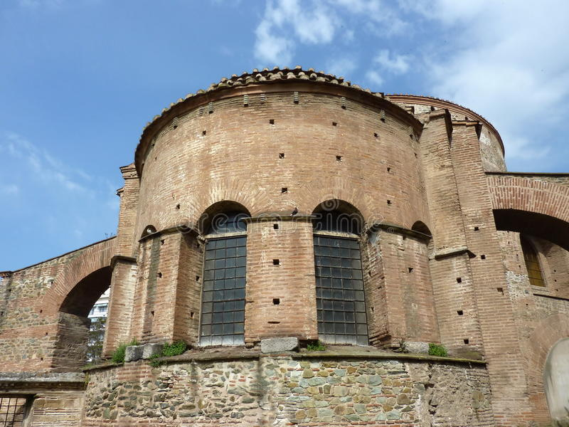 Chiesa del rotunda a Salonica, Grecia immagine stock libera da diritti