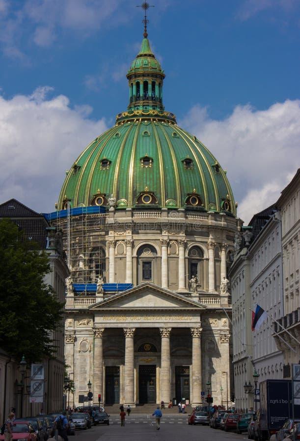 Chiesa del ` s di Frederik a Copenhaghen immagini stock libere da diritti