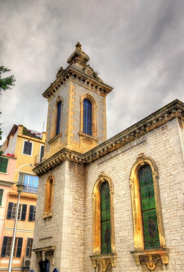 Chiesa del ` s di St Andrew in Gibilterra fotografia stock