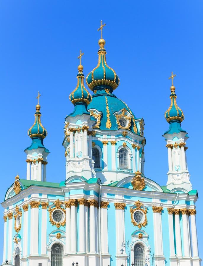 Chiesa del ` s di St Andrew a Kiev fotografie stock libere da diritti