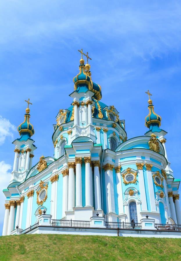 Chiesa del ` s di St Andrew in Kyiv, Ucraina fotografia stock libera da diritti