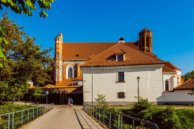 Chiesa del ` s di St Anne a Vilnius, Lituania fotografia stock libera da diritti