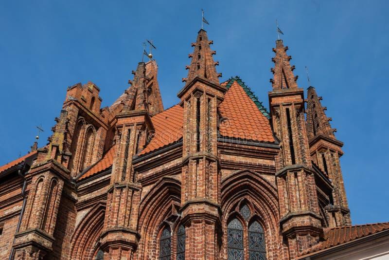 Chiesa del ` s di St Anne a Vilnius, Lituania fotografia stock