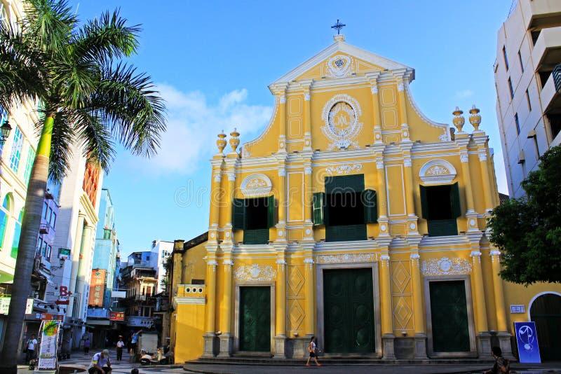 Chiesa del ` s di St Dominic, Macao, Cina fotografie stock libere da diritti