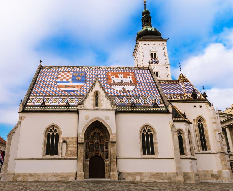 Chiesa del ` s di St Mark a Zagabria immagine stock