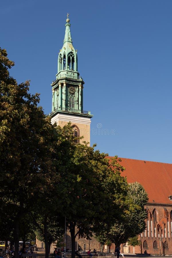Chiesa del ` s di St Mary a Berlino fotografie stock libere da diritti