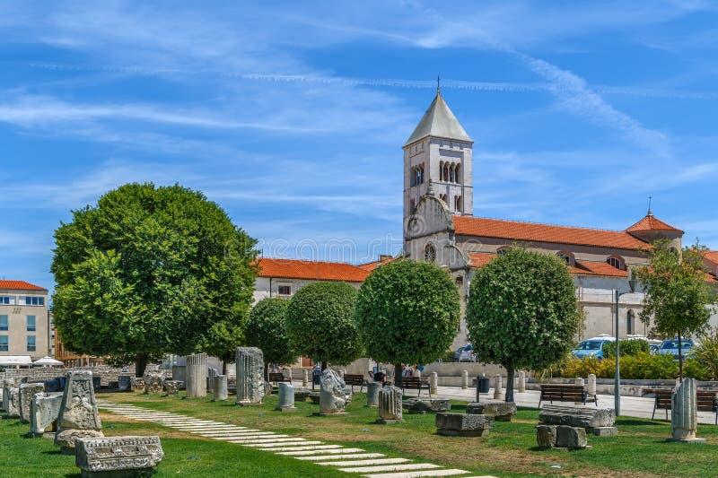 Chiesa del ` s di St Mary, Zadar, Croazia fotografie stock libere da diritti