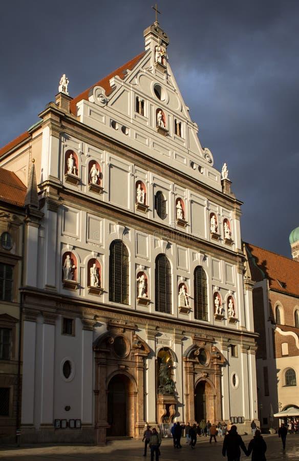 Chiesa del ` s di St Michael nel centro di Monaco di Baviera, Germania fotografie stock libere da diritti