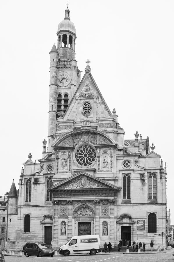 Chiesa del ` s di St Stephen del supporto in francese: Ti del ‰ del san-à di église immagini stock libere da diritti