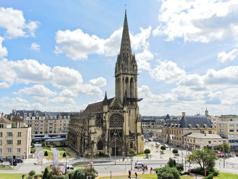 Chiesa del Saint Pierre nella città di Caen, Francia fotografia stock libera da diritti