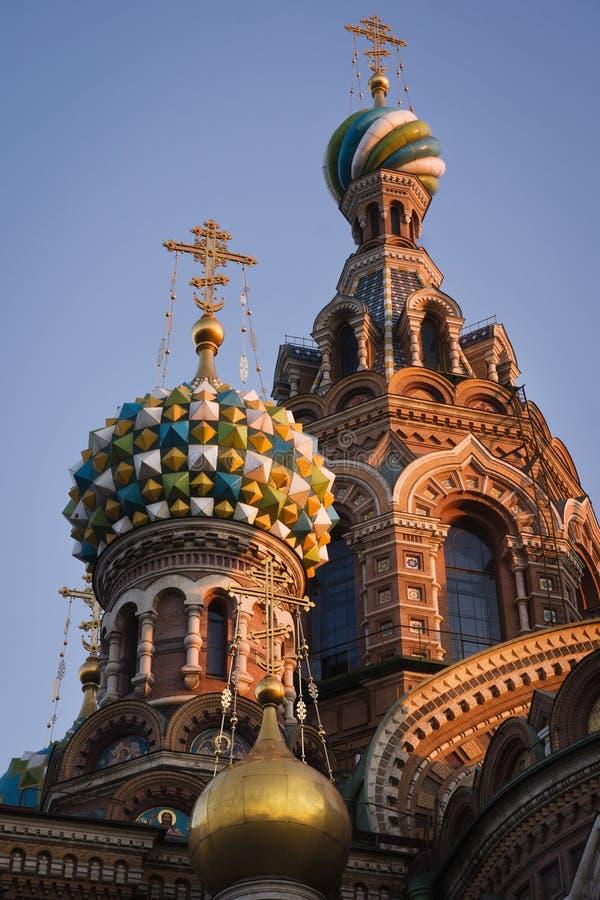 Chiesa del salvatore sul sangue a San Pietroburgo, Russia immagine stock