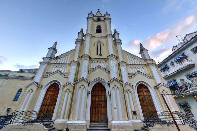 Chiesa del san Angel Custodian - Avana, Cuba immagine stock libera da diritti
