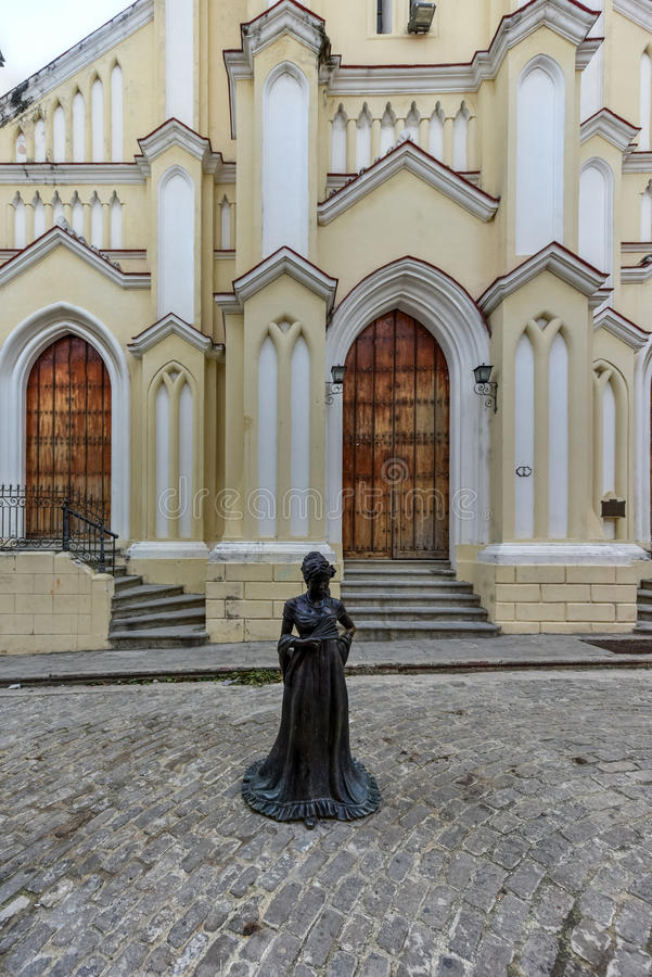 Chiesa del san Angel Custodian - Avana, Cuba fotografia stock libera da diritti
