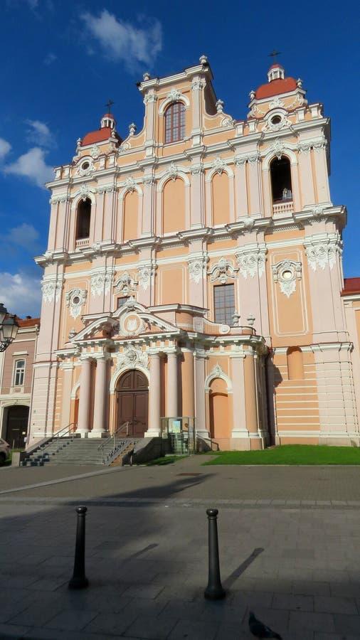 Chiesa del san Casmir a Vilnius, Lituania fotografia stock libera da diritti