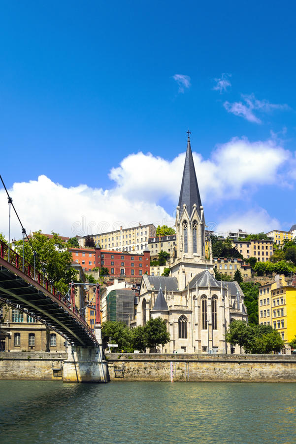 Chiesa del san Georges, Vieux Lione, Lione, Francia immagini stock