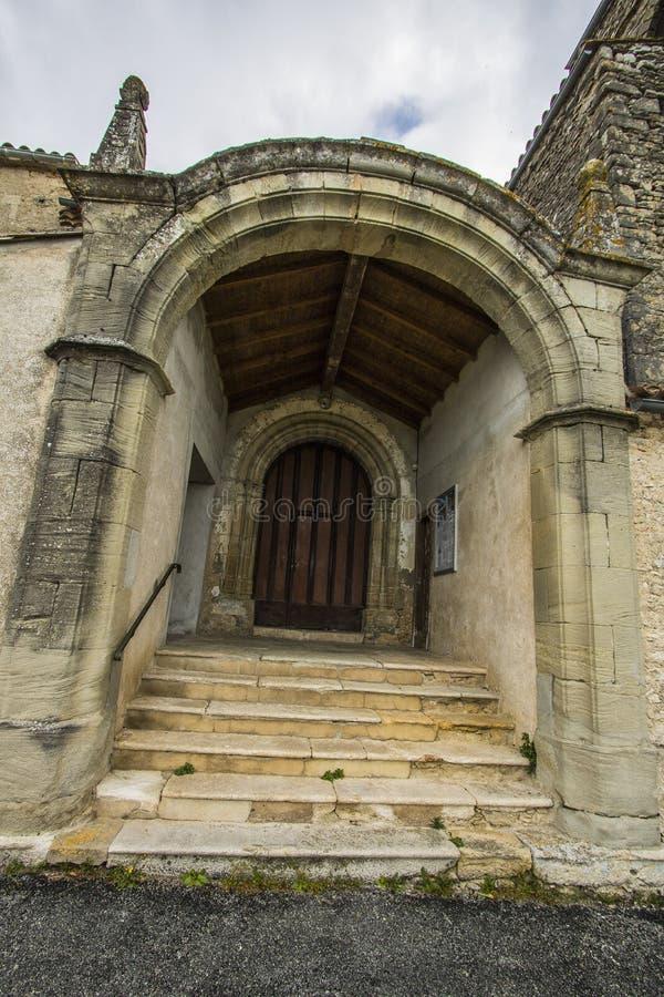 Chiesa del San-Martin-le-Vieil, Francia fotografia stock