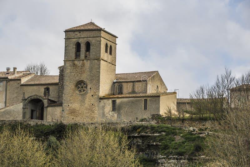 Chiesa del San-Martin-le-Vieil, Francia immagine stock libera da diritti