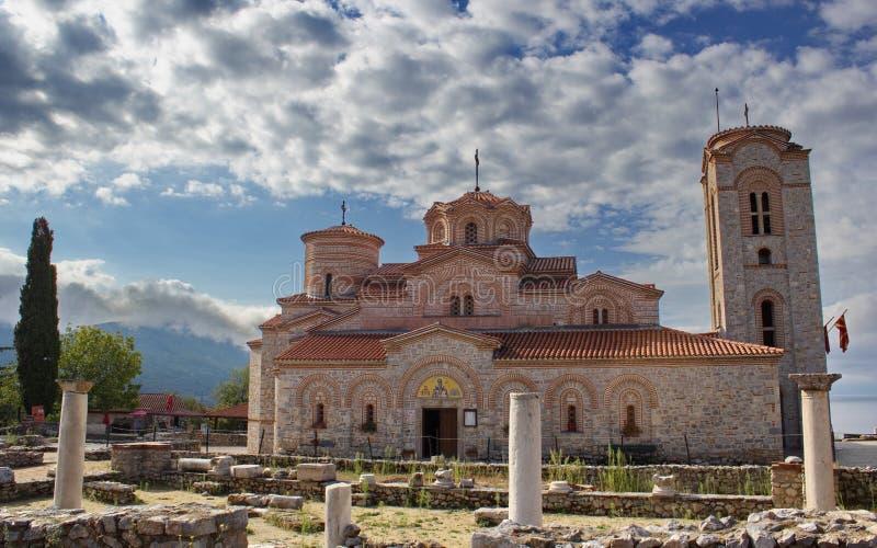 Chiesa del san Panteleimon, Ocrida, Macedonia fotografia stock