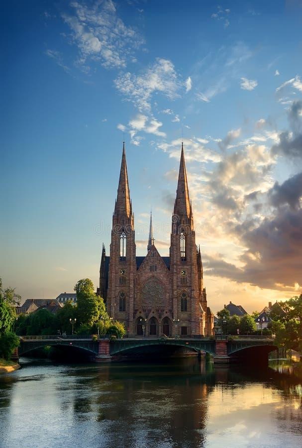 Chiesa del san Paul Strasbourg fotografia stock