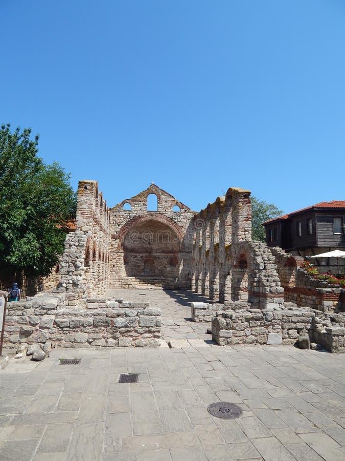 Chiesa del san Sophia in Nessebar, regione di Burgas, Bulgaria fotografie stock libere da diritti