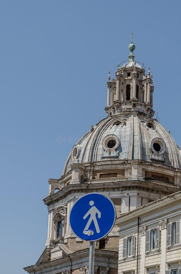 Chiesa del Santissimo Nome de Maria al forum di Traiano, a Roma L'Italia immagini stock
