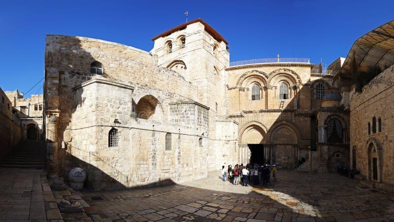 Chiesa del sepolcro santo in vecchia città di Gerusalemme, Israele immagini stock