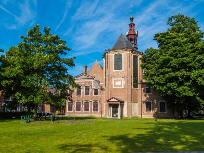 Chiesa del Sint-Elisabeth Begijnhof, Gand, Belgio fotografia stock libera da diritti