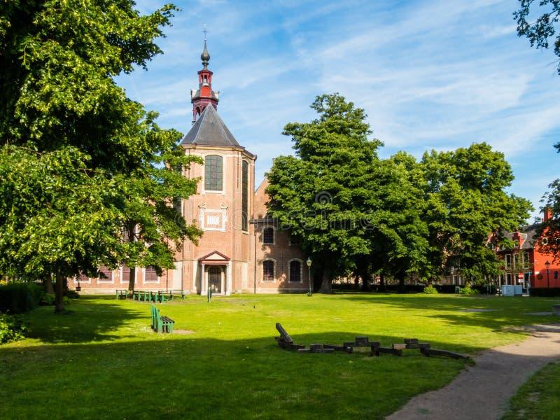 Chiesa del Sint-Elisabeth Begijnhof, Gand, Belgio immagini stock libere da diritti