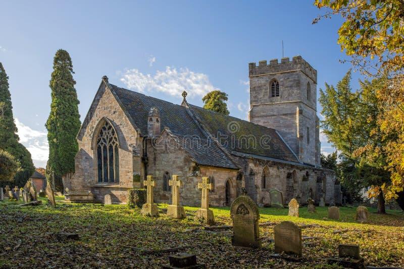 Chiesa del villaggio, Worcestershire, Inghilterra fotografia stock libera da diritti