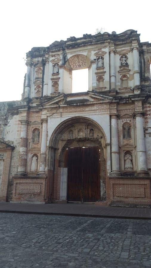 Chiesa dell'Antigua Guatemala in Antigua Guatemala immagine stock libera da diritti