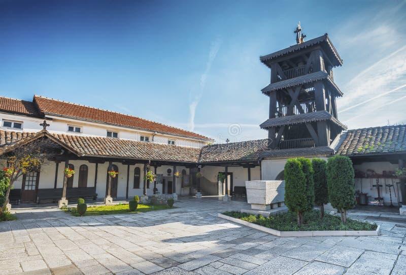 Chiesa dell'ascensione di Gesù a Skopje fotografia stock