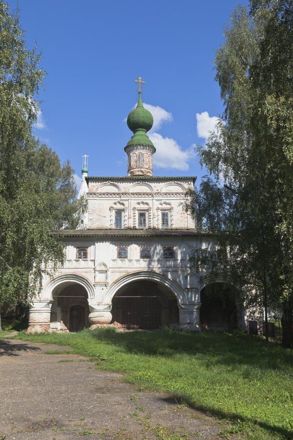 Chiesa dell'icona della nostra signora di Vladimir nel monastero di Michael-arcangelo in Veliky Ustyug immagine stock