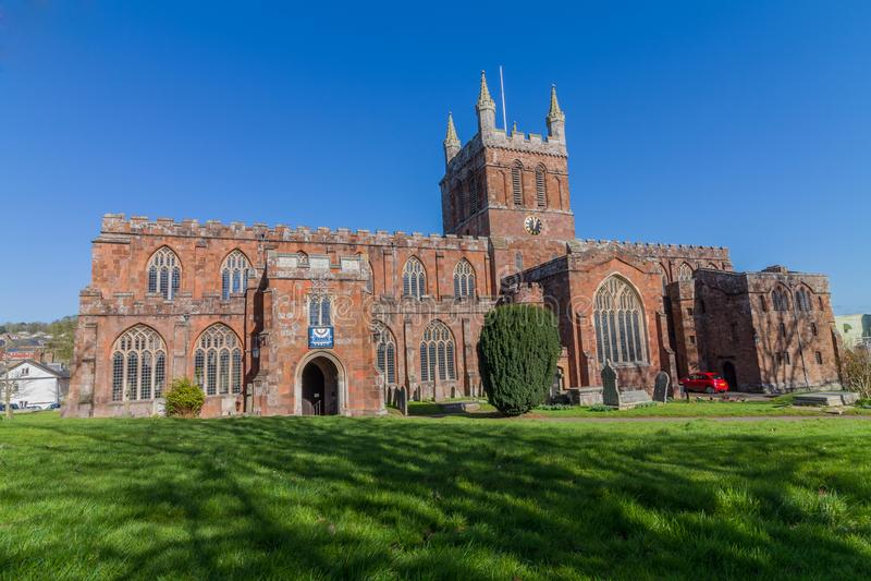 Chiesa dell'incrocio santo, Crediton Devon immagini stock