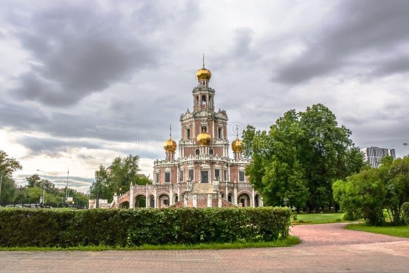 Chiesa dell'intercessione a Fili, Mosca fotografia stock libera da diritti