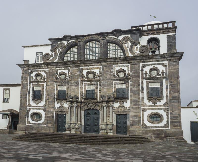 Chiesa dell'istituto universitario della gesuita, Ponta Delgada, isola di Miguel del sao, Azzorre, Portogallo immagine stock libera da diritti