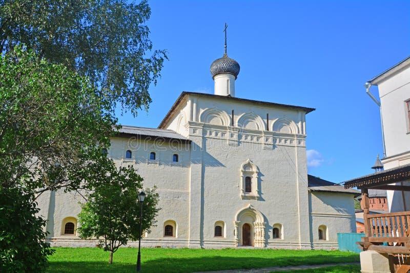 Chiesa dell'ospedale di Nicholas The Wonderworker nel monastero in Suzdal', Russia di Spaso-Evfimiyevsky fotografia stock libera da diritti