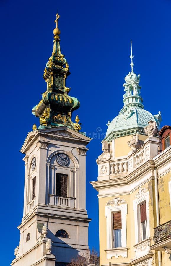 Chiesa della cattedrale della st Michael l'arcangelo a Belgrado fotografie stock libere da diritti