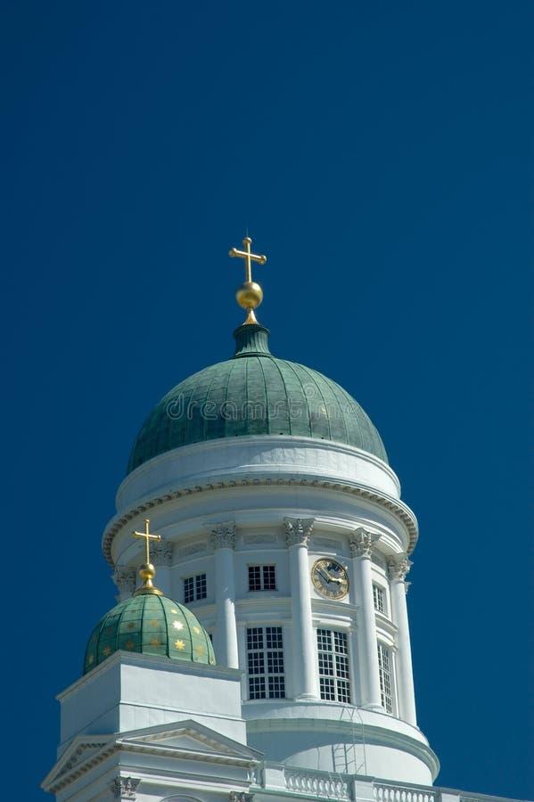 Chiesa della cattedrale a Helsinki fotografia stock libera da diritti