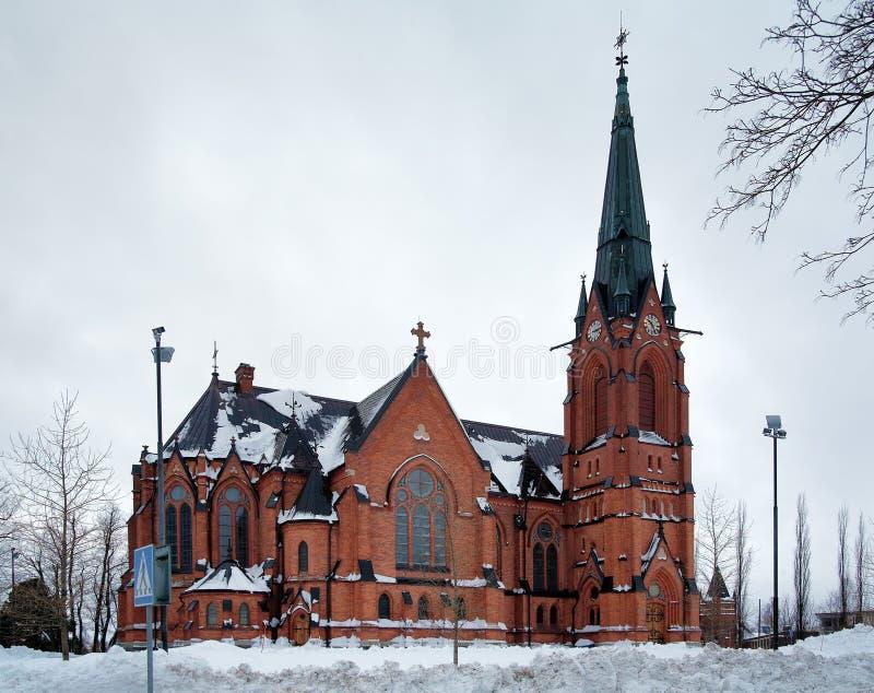 Chiesa della città di Umea, Svezia immagini stock libere da diritti