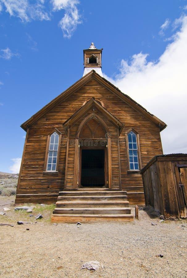 Chiesa della città fantasma fotografia stock