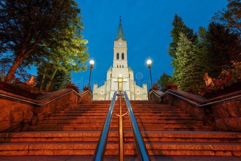 Chiesa della famiglia santa in Zakopane fotografia stock