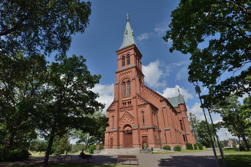 Chiesa della Finlandia Sipoo fotografia stock