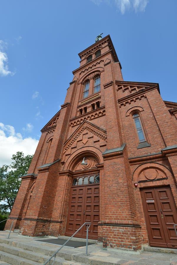 Chiesa della Finlandia Sipoo fotografie stock libere da diritti